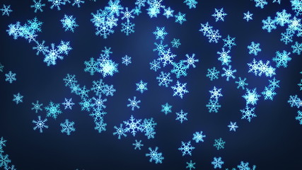 falling snowflakes loop christmas background