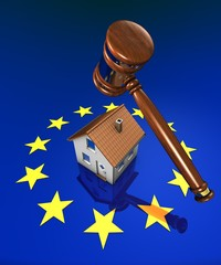 EU-Rights, hammer and little house