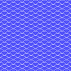 Blue Chinese seamless pattern