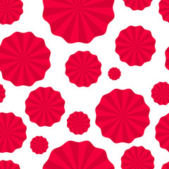 seamless pattern paper fans, pompoms, paper torch, turntables