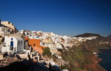 Santorini, Oia village general view.