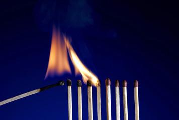 Flaming Matchstick