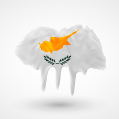 Flag of Cyprus painted colors