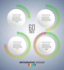 Infographics vector design template. Timer