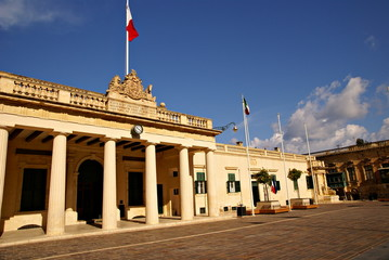 The Main Guard building  in Valletta, Island of Malta