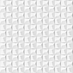 Abstract  white geometric background. Seamless texture 3d panel
