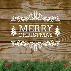 Wood and Merry Christmas