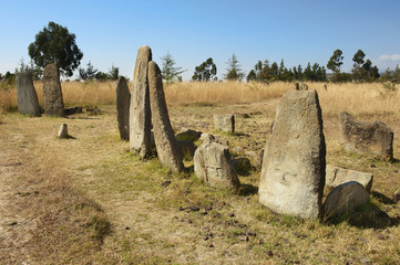 Mysterious Tiya pillars, UNESCO World Heritage Site, Ethiopia.