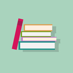 book stack flat icons design vector