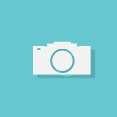 photo camera flat icon design vector
