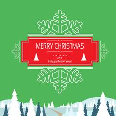christmas greeting card with merry christmas