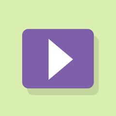 play button icon flat design vector