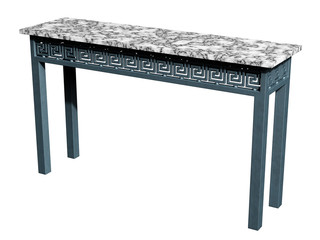 Iron and Marble Console