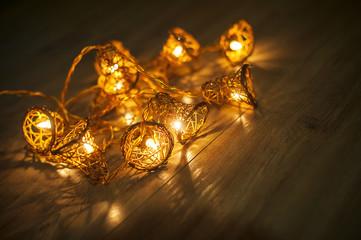 garland christmas light background