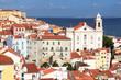 View across Alfama, Lisbon from Miradouro Santa Luzia