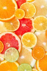 background of citrus slices