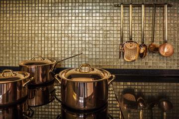gold kitchen utensils