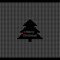 Abstract Merry christmas greeting card, christmas tree
