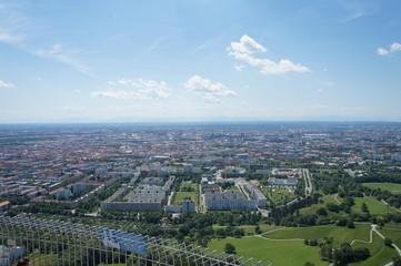 Blick aus der Vogelperspektive auf München