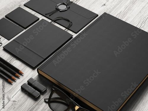 Set of black branding elements - 73682116