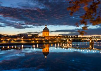 Pont Saint Pierre et le Dôme de la Grave, Toulouse