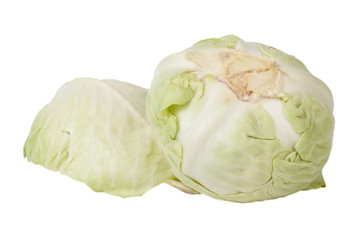 Cabbages isolated on a white background