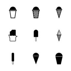 Vector ice cream icon set
