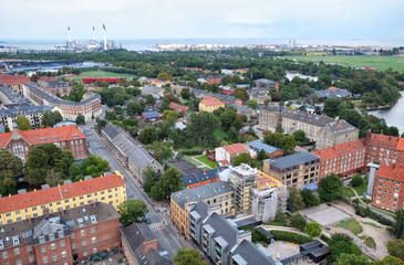 The bird's eye view from the Church of Our Saviour to Christiani