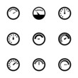 Vector meter icon set - 73683124