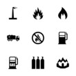 Vector natural gas icon set - 73683305