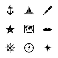 Vector nautical icon set