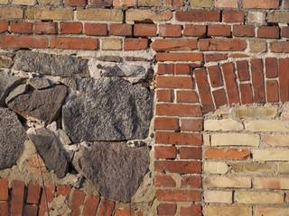 Altes gemischtes Mauerwerk