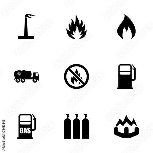 Vector natural gas icon set - 73683305