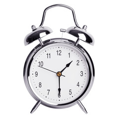 Alarm clock shows half of the second