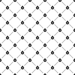 Seamless simple pattern with Christmas ball