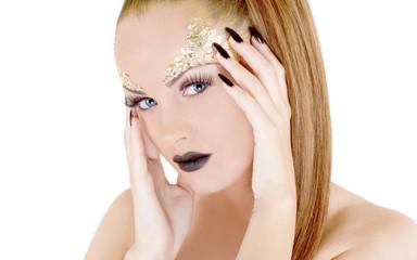 Glamor makeup attractive woman