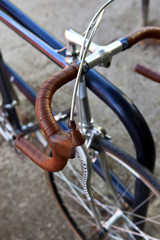 Handlebar covered with leather