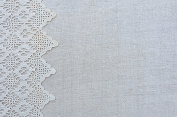 The texture of linen embroidered towels, Frame