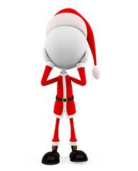 3d santa with shocking pose