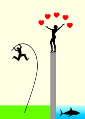 Risk of Love or Love is Blind