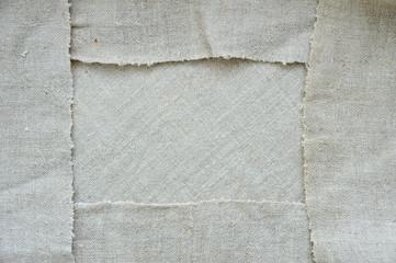 Frame made of linen, Blank