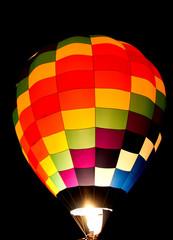 Colorful balloon glow