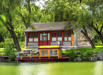 Boat Buidling Canal Summer Palace Beijing China