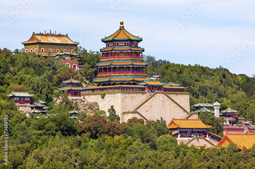 Foto op Aluminium Beijing Longevity Hill Tower Buddha Fragrance Summer Palace Beijing