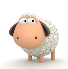 Symbol of 2015. Sheep on white background