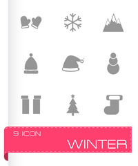 Vector winter icons set