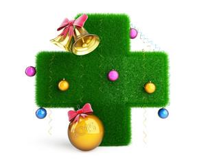 Medical Cross Christmas Tree