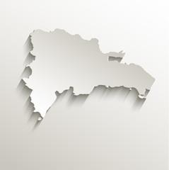 Dominican Republic map card paper 3D natural vector