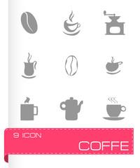 Vector coffe icons set