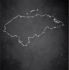 Honduras map blackboard chalkboard vector
